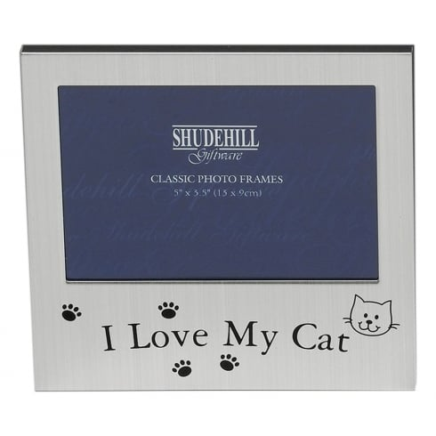 Shudehill Giftware I love My Cat 5 x 3.5 Photo Frame