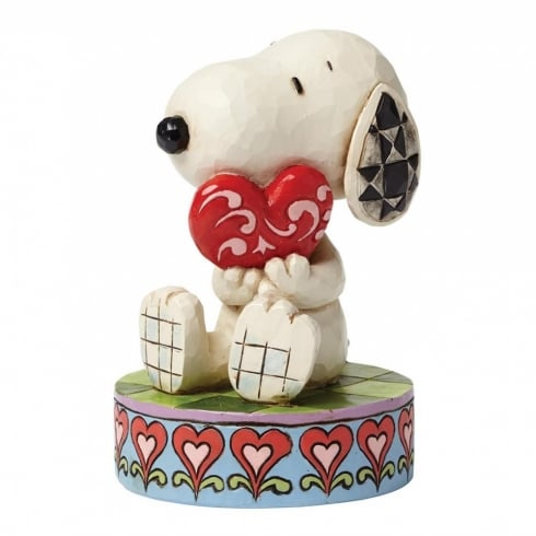 Jim Shore - Peanuts I Love You Snoopy With Heart Figurine