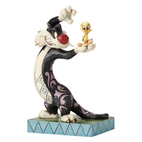Jim Shore Looney Tunes I Tawt I Taw A Puddy Tat Sylvester and Tweety Figurine