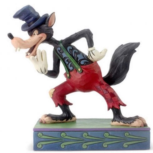 Disney Traditions Ill Huff and Ill Puff! Big Bad Wolf Figurine