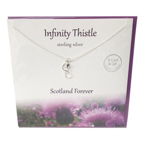 The Silver Studio Infinity Thistle Pendant