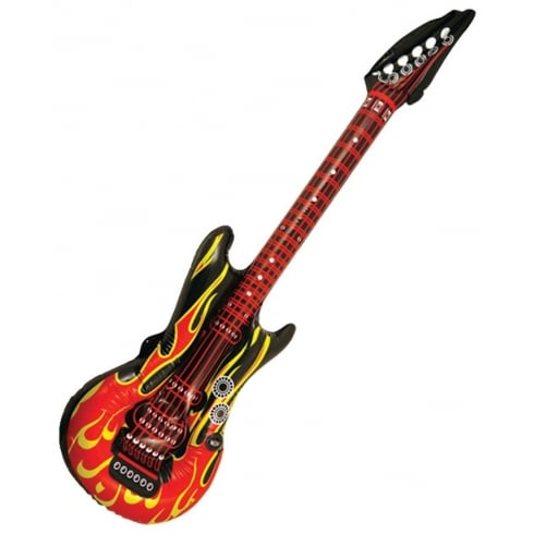Bristol Novelty Inflatable Guitar Flame Design