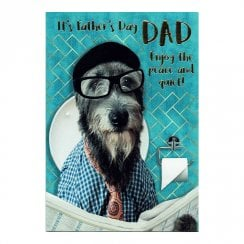 It's Fathers Day Dad Enjoy The Peace and Quiet! Card DF246