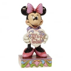 Its A Girl Minnie Mouse Figurine