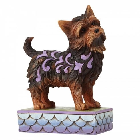 Jim Shore Heartwood Creek Izzie Yorkshire Terrier Dog Figurine