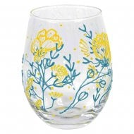 Izzy and Oliver Floral Stemless Wine Glass