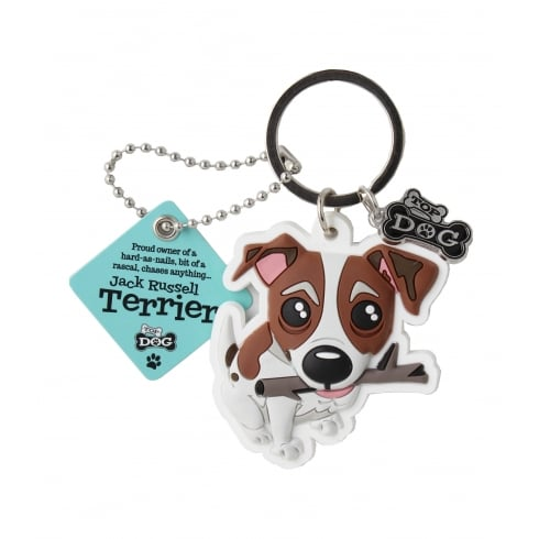 Wags & Whiskers Jack Russell Terrier Keyring