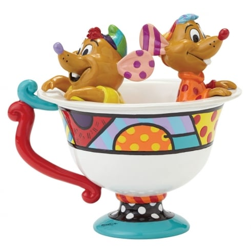 Britto Jaq & Gus in Teacup Figure