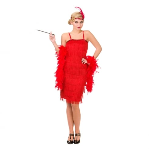 Wicked Costumes Jazzy Flapper - Red (M)