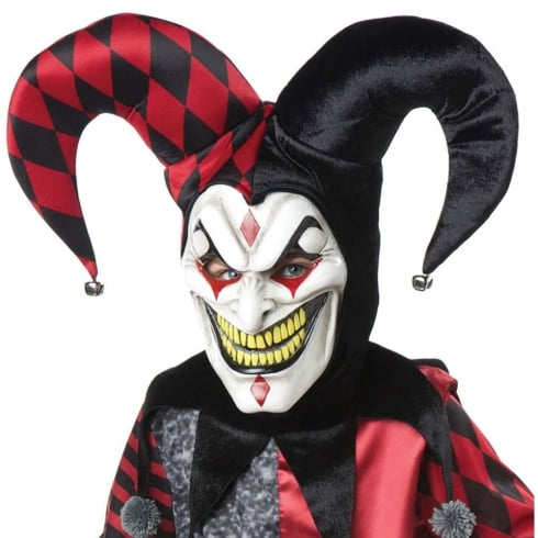 Fun World Jester Mask with Hat & Collar