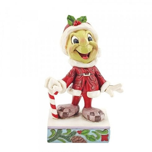 Disney Traditions Jiminy Cricket Be Wise & Merry Christmas Figurine 6008986