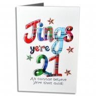 Jings Yere 21 Scottish Birthday Card