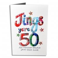 Jings Yere 50 Scottish Birthday Card