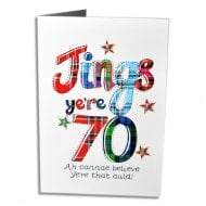 Jings Yere 70 Scottish Birthday Card