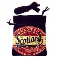 John Scotland Neck Pouch Passport Bag Black/Red