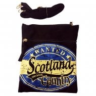 John Scotland Neck Pouch Passport Bag Black/Royal Blue