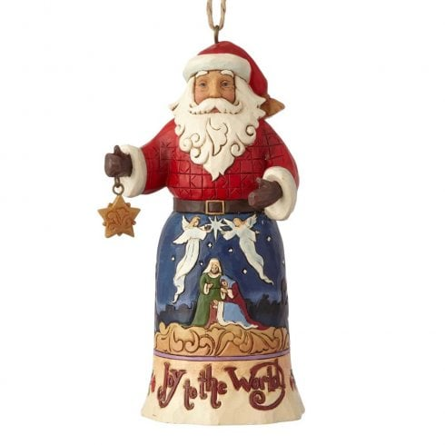 Jim Shore Heartwood Creek Joy to the World Santa Hanging Ornament