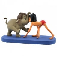 Jungle Patrol Hathi JR. & Mowgli Figurine