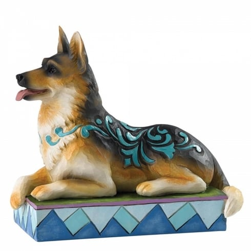 Jim Shore Heartwood Creek Kaiser German Shepherd Dog Figurine