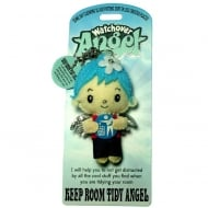 Keep Room Tidy Angel Keyring