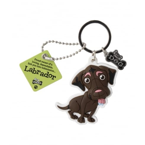 Wags & Whiskers Keyring - Labrador (Brown)