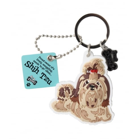 Wags & Whiskers Keyring - Shih Tzu