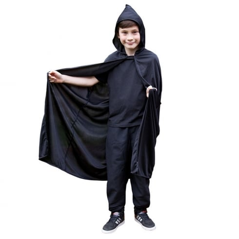 Wicked Costumes Kids Hooded Cape -Black (One Size)
