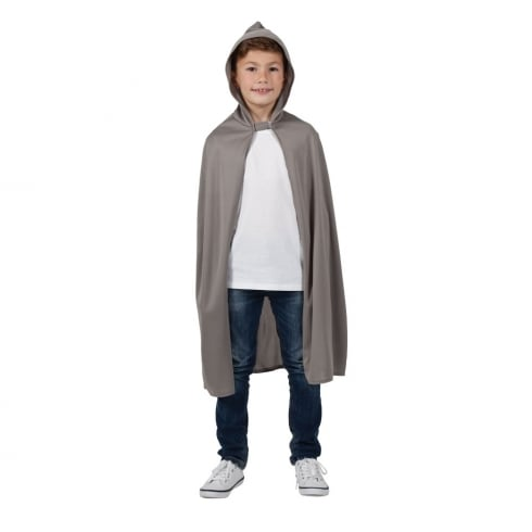Wicked Costumes Kids Hooded Cape - Grey (One Size)