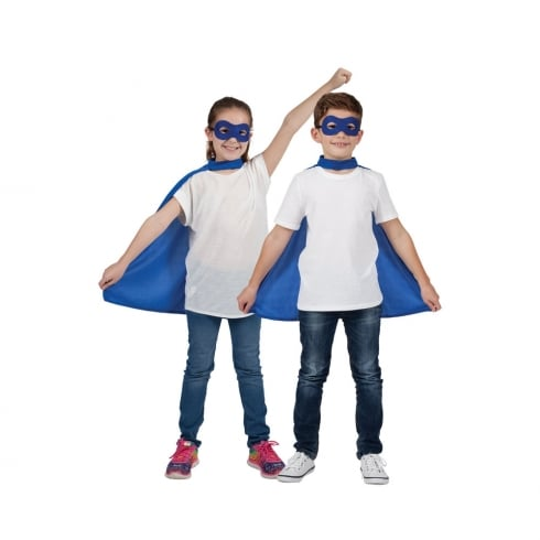 Wicked Costumes Kids Super Hero Cape & Mask Blue