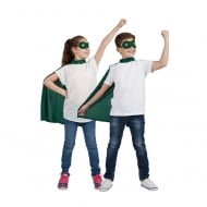Kids Super Hero Cape & Mask Green
