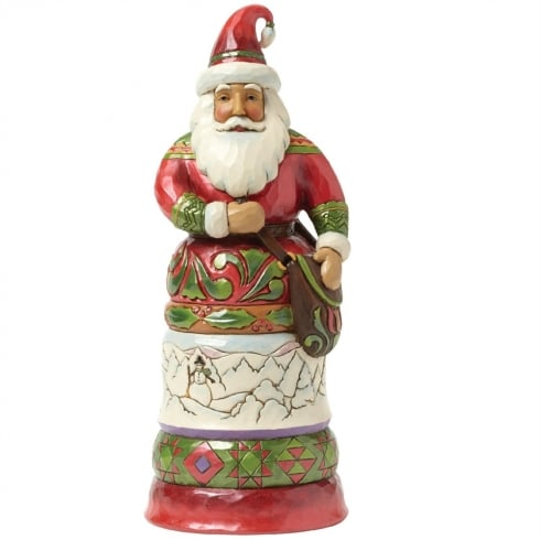 Jim Shore Heartwood Creek Kindly Kris Kringle - Regal Santa With Bag