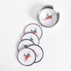 Kingfisher Coasters - Set Of 6 9cm