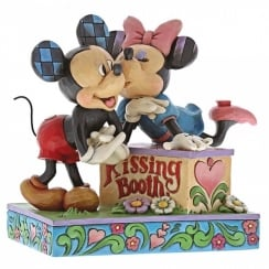 Kissing Booth Mickey and Minnie Mouse Figurine