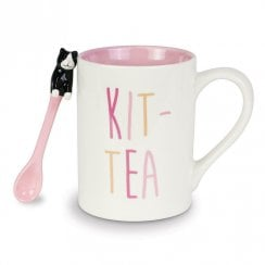 Kit-Tea Mug With Spoon Set