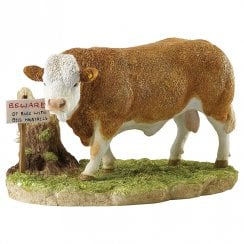 Kitchy & Co Beware Of The Bull Figurine