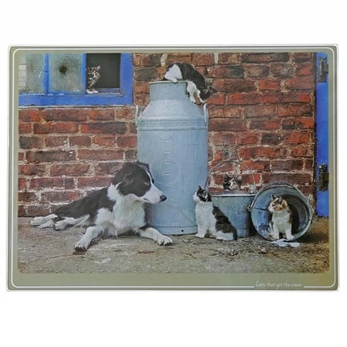 Border Fine Arts Kitchy & Co Cat Got The Cream Chopping Board