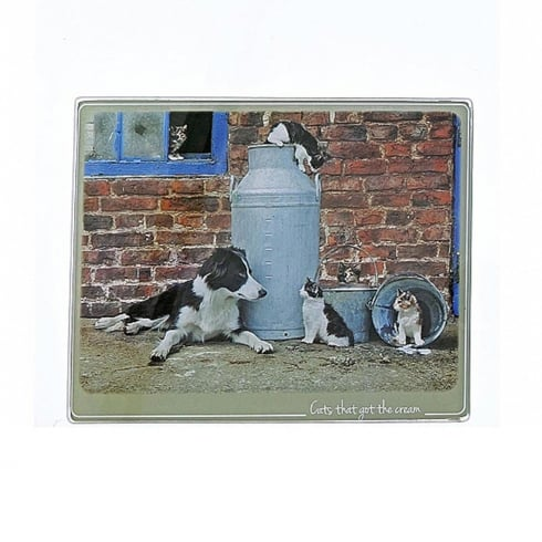Border Fine Arts Kitchy & Co Cat Got The Cream Trivet Small