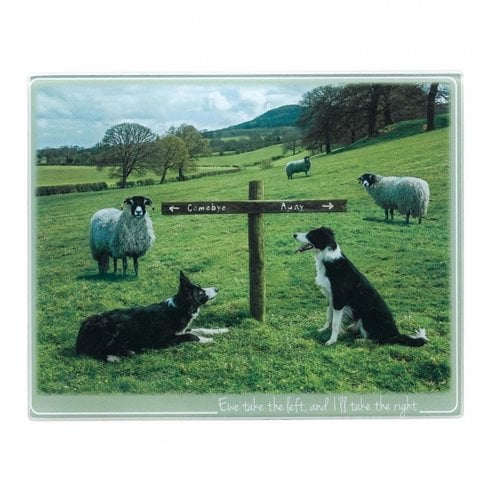 Border Fine Arts Kitchy & Co Ewe Take The Left Trivet Small