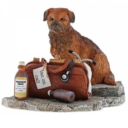 Border Fine Arts Kitchy & Co Vet On Call Border Terrier Dog Figurine