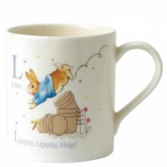 L Peter Rabbit With Plant Pot Mug