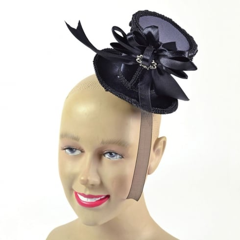 Bristol Novelty Ladies Mini Tall Hat Black