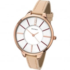 Ladies Rose Gold Plated Quartz Watch 2013.00