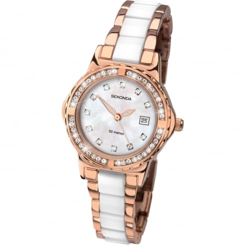 Sekonda Ladies Rose Gold Plated Quartz Watch 2022.00