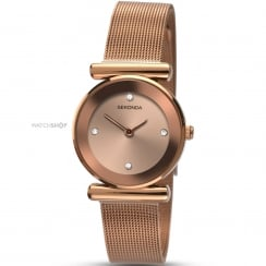 Ladies Rose Gold Plated Quartz Watch 2301.00