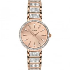 Ladies Seksy Rose Gold Plated Quartz Watch 2372.37