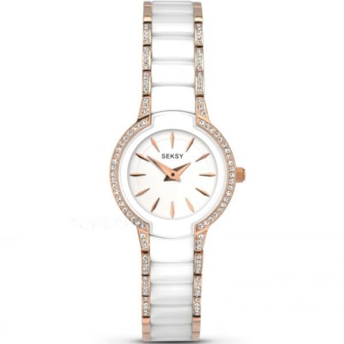 Ladies Seksy Rose Gold Plated Quartz Watch 2381.37