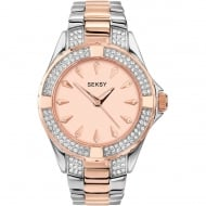 Ladies Seksy Two-Tone Rose Gold Plated/Stainless Steel Quartz Watch 4233.37