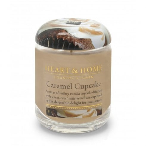 Heart & Home Large Candle Jar Caramel Cupcake