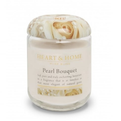 Heart & Home Large Candle Jar Pearl Bouquet