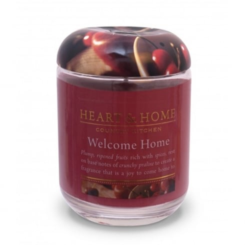 Heart & Home Large Candle Jar Welcome Home